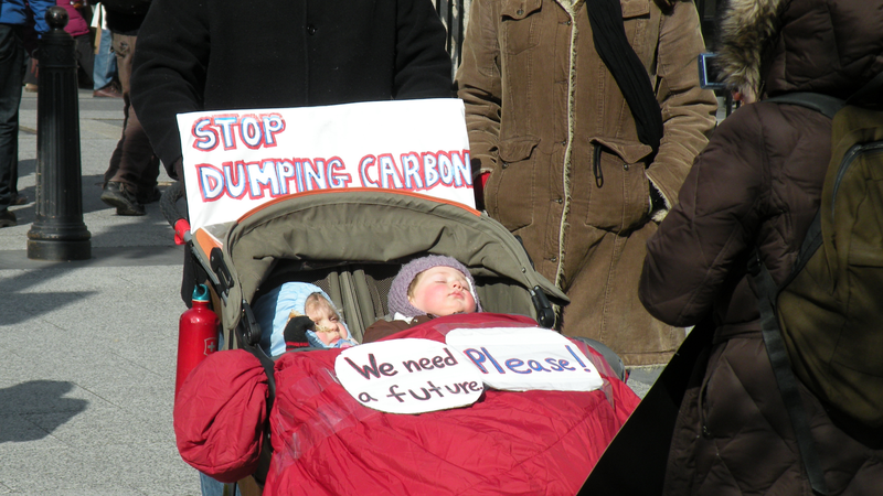 Stop dumping carbon we need a future please