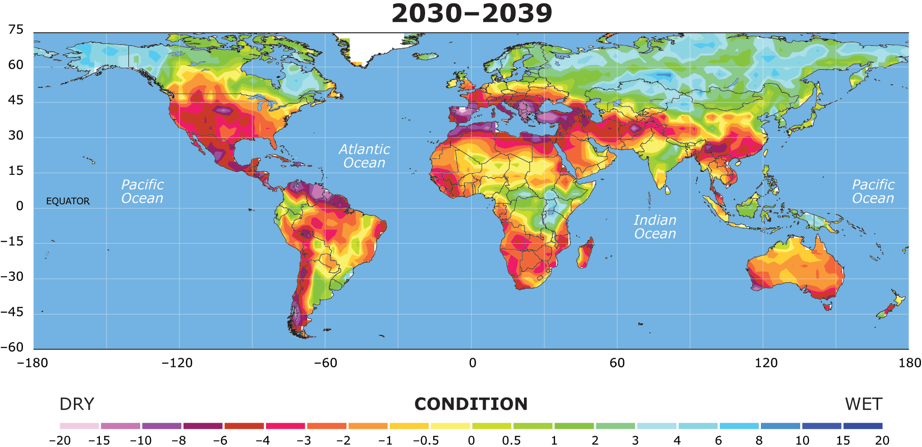 Image result for world drought map