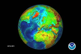 NOAA bathymetry arctic