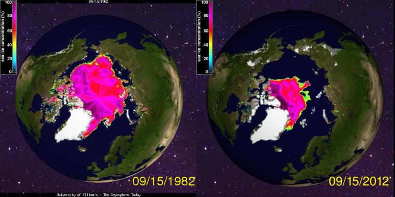 1982 vs 2012 sea ice minimum
