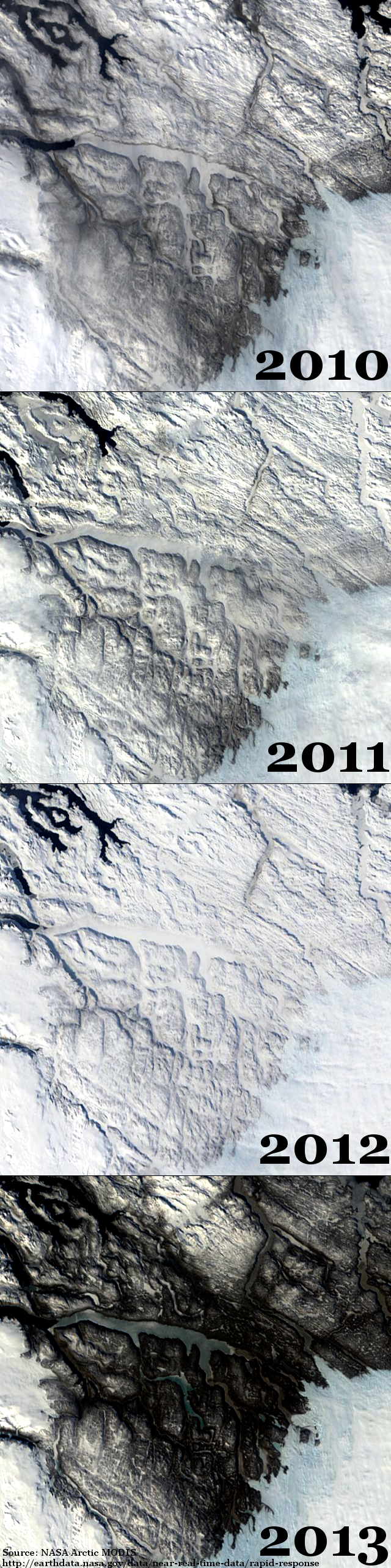 2010 to 2013 West Greenland Snow Cover
